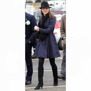 Navy Blue Ted Baker Jinan Trench Coat